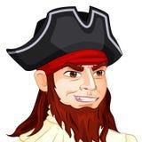Vectorkarakteravatar piraat op geïsoleerd Royalty-vrije Stock Fotografie