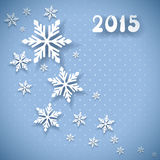 Vectorkerstmis en de nieuwe kaart van de jaaruitnodiging Royalty-vrije Stock Afbeelding