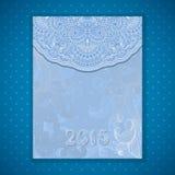 Vectorkerstmis en de nieuwe kaart van de jaaruitnodiging Royalty-vrije Stock Foto