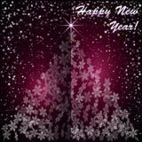 Vectorkerstmis en Nieuwjaarachtergrond met Royalty-vrije Stock Foto