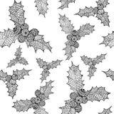 Vectorkerstmis naadloos patroon met hand getrokken omelaillustraties Stock Afbeelding