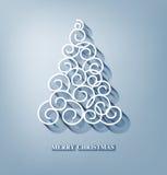 Vectorkerstmisachtergrond met Kerstboom Royalty-vrije Stock Afbeelding