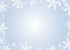 Vectorkerstmisconceptontwerp als achtergrond van witte sneeuwvlok Stock Afbeeldingen