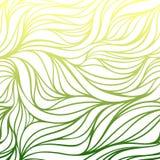 Vectorkleur hand-trekkende golf overzeese achtergrond Blauwe abstracte oceaantextuur Stock Foto