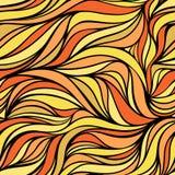 Vectorkleur hand-trekkende golf zonnige achtergrond Textuur van de gradiënt de abstracte brand Vector Illustratie