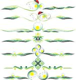 Vectorkleuren decoratieve ornamenten eps10 Royalty-vrije Stock Afbeelding
