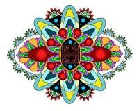 Vectorkleuren zwart-wit mandala Stock Afbeelding