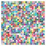 Vectorkleurenpalet 729 verschillende kleuren stock illustratie