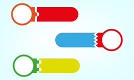 Vectorkleurenpictogrammen Royalty-vrije Stock Afbeelding
