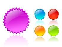 Vectorkleurensterren Stock Afbeelding