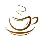 Vectorkop van Koffie Stock Foto's