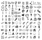 Vectorkrabbelpictogrammen Universele Vastgestelde eps10 Royalty-vrije Stock Foto