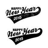 Vectorkrantekop Gelukkig nieuw jaar Stock Afbeeldingen