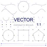 Vectorkrommen en Knopeninterfaceelementen Royalty-vrije Stock Foto's
