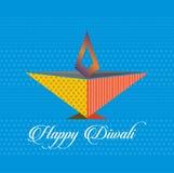 Vectorkunst van Gelukkig Diwali-festival Royalty-vrije Stock Foto's