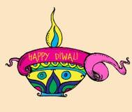 Vectorkunst van het prijskaartje/de banner van Diwali Stock Foto
