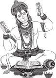 vectorkunst van Jai hanuman voor kaart Stock Foto
