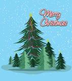 Vectorkunst van Kerstboomkaart Stock Foto