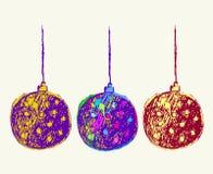 Vectorkunst van Kerstmisbal Royalty-vrije Stock Foto's