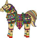 Vectorkunst van kleurrijk paard Stock Foto's