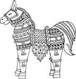 Vectorkunst van kleurrijk paard Royalty-vrije Stock Fotografie