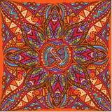 Vectorkunst van koninklijk helder naadloos patroon voor kaart Stock Afbeelding