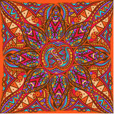 Vectorkunst van koninklijk helder naadloos patroon voor kaart Stock Afbeeldingen