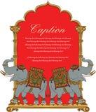 Vectorkunst van koninklijke olifant in Indische kunststijl Stock Foto's