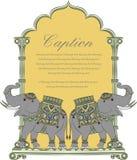 Vectorkunst van koninklijke olifant in Indische kunststijl Stock Afbeeldingen