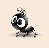 Vectorkunst van leuk zwart mierenbeeldverhaal Stock Fotografie