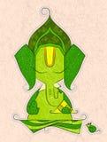 vectorkunst van Lord Ganesha in schets Stock Fotografie