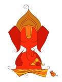 vectorkunst van Lord Ganesha in schets Stock Afbeeldingen
