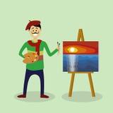 Vectorkunstenaar Royalty-vrije Stock Afbeeldingen