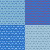 Vectorkunstinzameling van eenvoudige naadloze achtergronden Stock Afbeelding