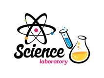 Vectorlaboratorium, chemisch, medisch embleem stock illustratie