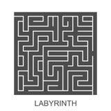 Vectorlabyrint Stock Afbeelding