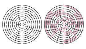 Vectorlabyrint 76 Royalty-vrije Stock Afbeeldingen