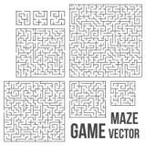 Vectorlabyrint Labyrint met Ingang en Uitgang Royalty-vrije Stock Afbeeldingen