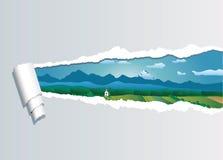 Vectorland strappato royalty illustrazione gratis