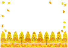 Vectorlandschap van de Herfstbladeren Vector Illustratie