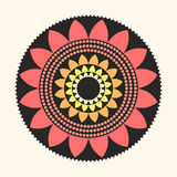 Vectorlotus mandala flat natural abstract illustration Stock Foto