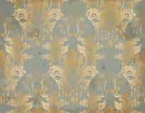 Vectorluxe Barok patroon in goud Victoriaans koninklijk decor Ingewikkelde ontwerpornamenten vector illustratie