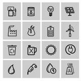 Vectormacht en energiepictogrammen stock illustratie