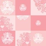 Vectormalplaatje van de kaarten van de huwelijksuitnodiging met Stock Afbeeldingen