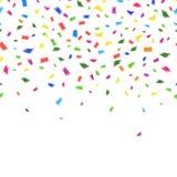 Vectormalplaatje van trillende kleurrijke confettien Stock Afbeelding