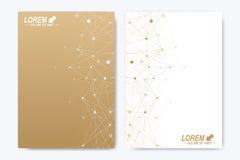 Vectormalplaatje voor brochure, Pamflet, vlieger, advertentie, dekking, catalogus, tijdschrift of jaarverslag Geometrische Achter royalty-vrije illustratie