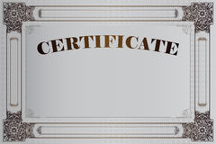 Vectormalplaatje voor het ontwerp van certificaat, reclame, envelop, uitnodigingen of groetkaarten vector illustratie