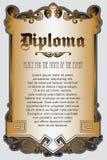 Vectormalplaatje voor het ontwerp van diploma, reclame, uitnodigingen of groetkaarten stock illustratie