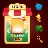 Vectormalplaatje voor opslag of winkel Royalty-vrije Stock Afbeeldingen