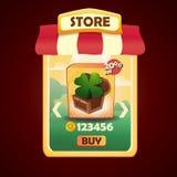 Vectormalplaatje voor opslag of winkel Royalty-vrije Stock Foto